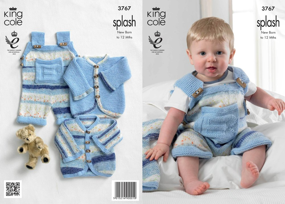 af3ac3ebf King Cole 3767 Knitting Pattern Baby Set in King Cole Splash DK and ...