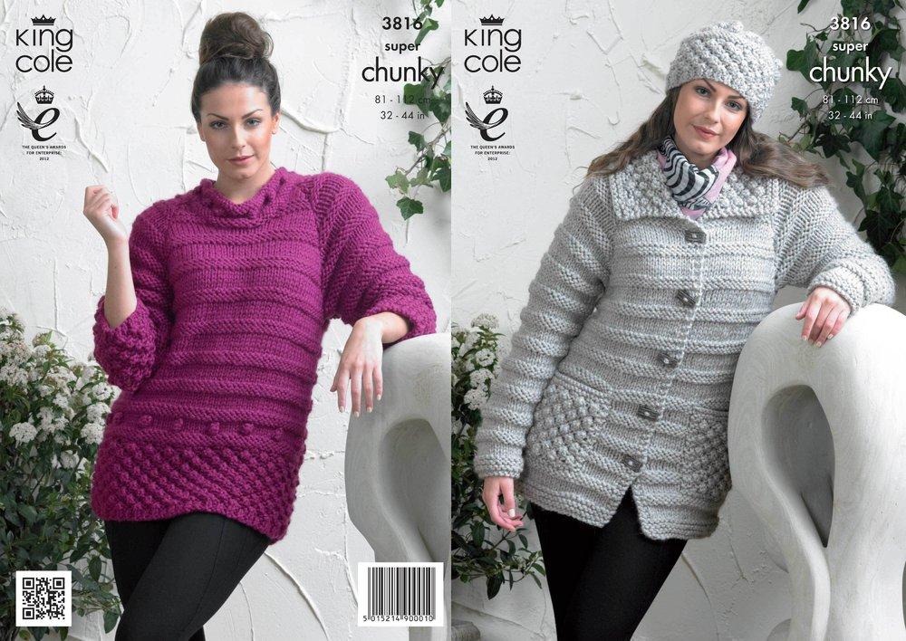 2a01766fbc2471 King Cole 3816 Knitting Pattern Jacket