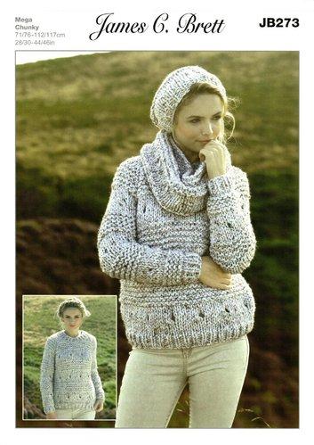 6d2ffa33f James C Brett JB273 Knitting Pattern Sweater