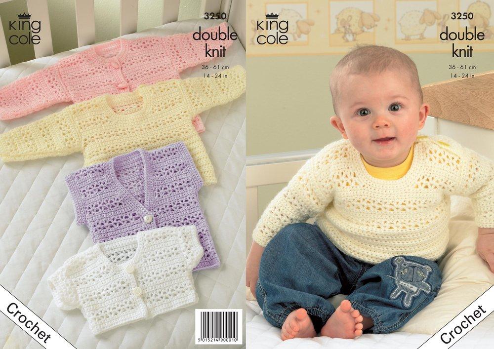 5b997d66547087 King Cole 3250 Crochet Pattern Crochet Cardigan Bolero Waistcoat   Sweater  in King Cole Comfort DK - Athenbys