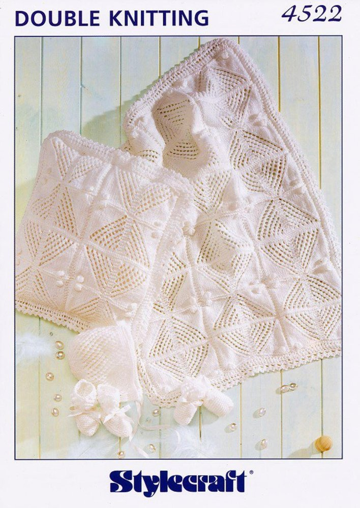 Stylecraft 4522 Knitting Pattern Pram Cover, Cushion and Accessories ...