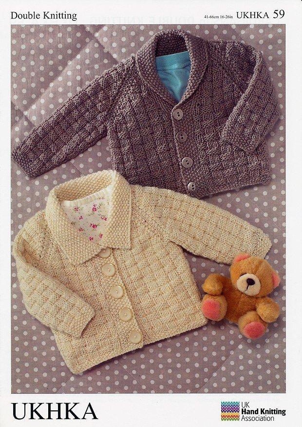 Ukhka 59 Knitting Pattern Baby Cardigans In Dk Athenbys