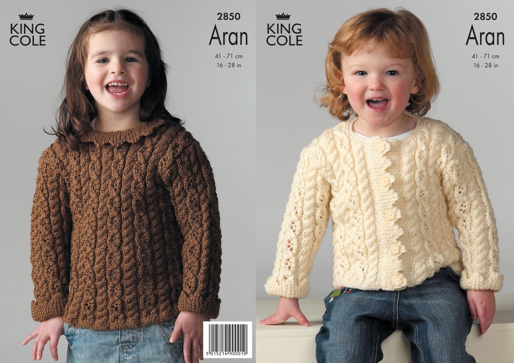 d03e0e657 King Cole 2850 Knitting Pattern Girls Sweater   Jacket Knitted in ...