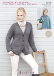 Sirdar 9746 Knitting Pattern Ladies Girls Raglan Cardigans in Hayfield Super Chunky With Wool