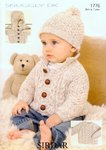 Sirdar 1776 Knitting Pattern Sweater, Jacket & Hat in Sirdar Snuggly DK