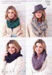 Sirdar 7243 Knitting Pattern Snoods in Hayfield Super Chunky with Wool