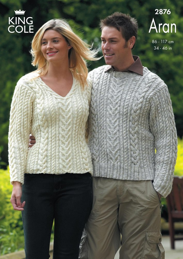 King Cole 2876 Knitting Pattern Sweaters Knitted in King Cole ...