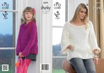 King Cole 3675 Knitting Pattern Tunic and Sweater in King Cole Galaxy Chunky