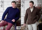 King Cole 3820 Knitting Pattern Jacket and Sweater in King Cole Super Chunky