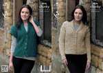 King Cole 4036 Knitting Pattern Jacket and Waistcoat in Chunky Tweed