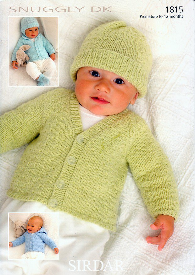 Sirdar 1815 Knitting Pattern Cardigans Hats Mittens Bootees In