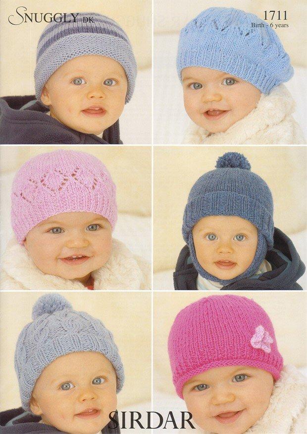 Sirdar 1711 Knitting Pattern Hats in Sirdar Snuggly DK ...