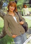 Sirdar 8485 Knitting Pattern Ladies Cardigans in Sirdar Aran