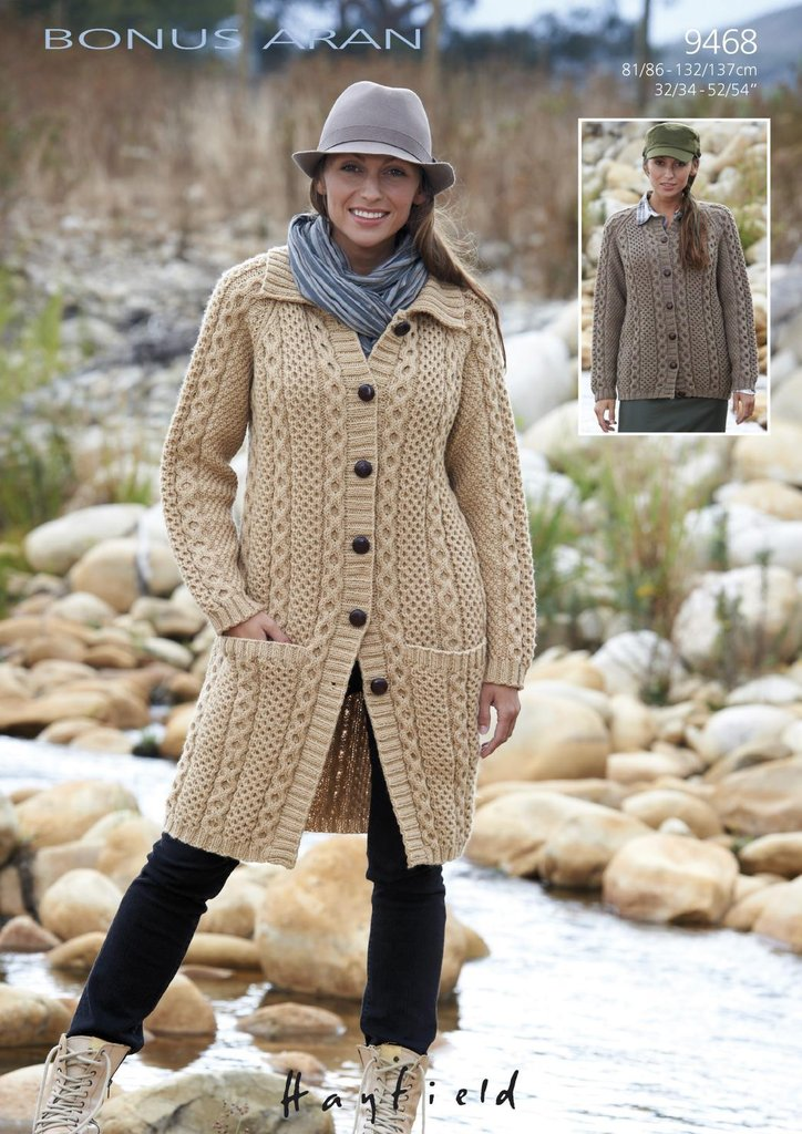 Sirdar 9468 Knitting Pattern Womens Cardigan and Jacket in ...