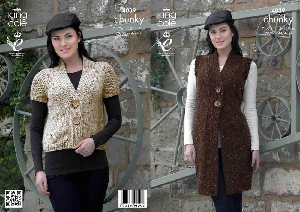441e6bb2f King Cole 4039 Knitting Pattern