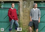 King Cole 4020 Knitting Pattern Sweaters, Boot Toppers and Hat in King Cole Masham DK