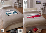 King Cole 4323 Knitting Pattern Camper Van Bed Throws in King Cole Big Value Super Chunky