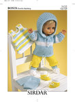 Sirdar 3122 Knitting Pattern Doll's Outfit in Hayfield Baby Bonus DK