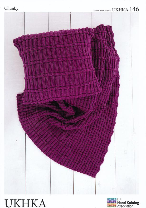 Ukhka 146 Knitting Pattern Throw And Cushion Covers In Chunky Athenbys
