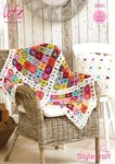 Stylecraft 9090 Crochet Pattern Blanket and Cushion Cover in Life DK