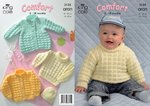King Cole 3135 Knitting Pattern Coat, Cardigan, Sweater and Hat in King Cole Comfort Aran
