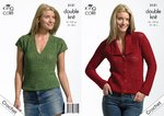 King Cole 3131 Crochet Pattern Womens Jacket and Top in King Cole Bamboo Cotton DK