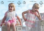 King Cole 3159 Knitting Pattern Baby Girls Sun Top and Cardigan in King Cole Melody DK