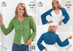 King Cole 3178 Crochet Pattern Womens Boxy Cardigan & Shrug in King Cole Moods DK