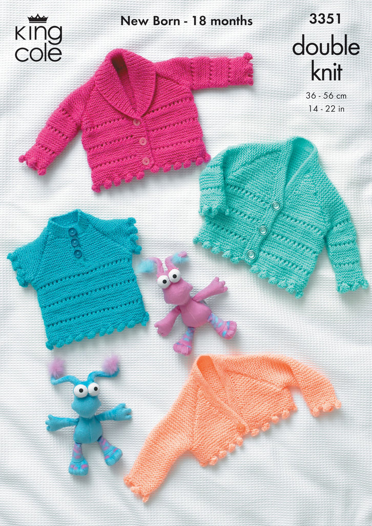 King Cole 3351 Knitting Pattern Cardigans, Sweater and Bolero in ...