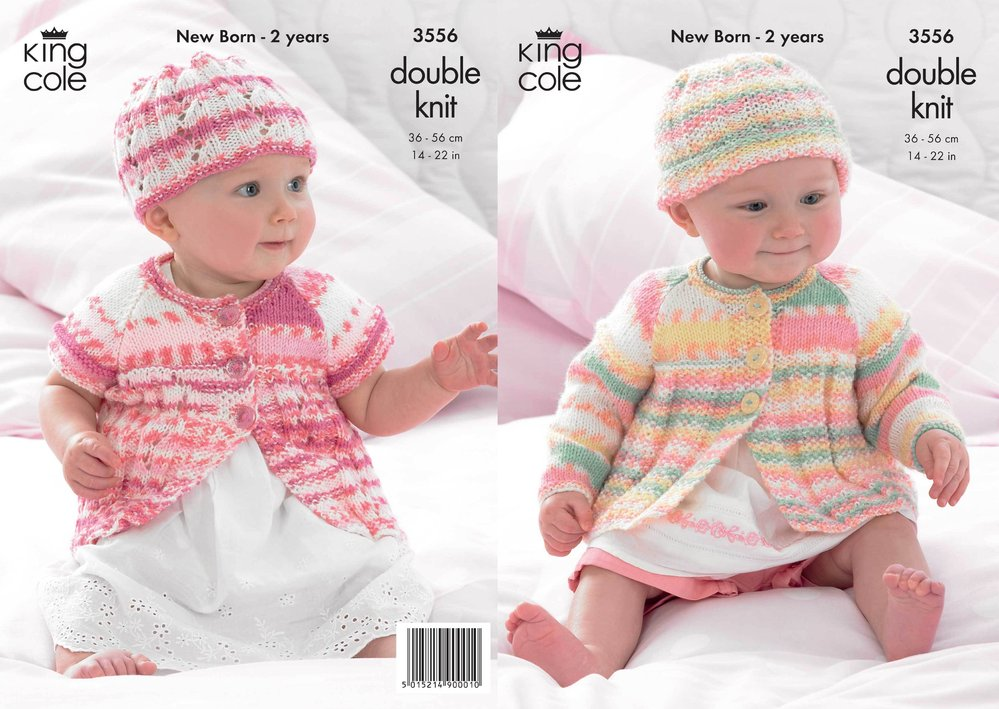dbcbfb560479 King Cole 3556 Knitting Pattern Coats and Hats in King Cole DK ...