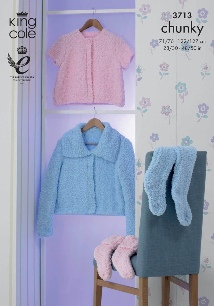 King Cole 3713 Knitting Pattern Womens Girls Cosy Jackets and Bed ...