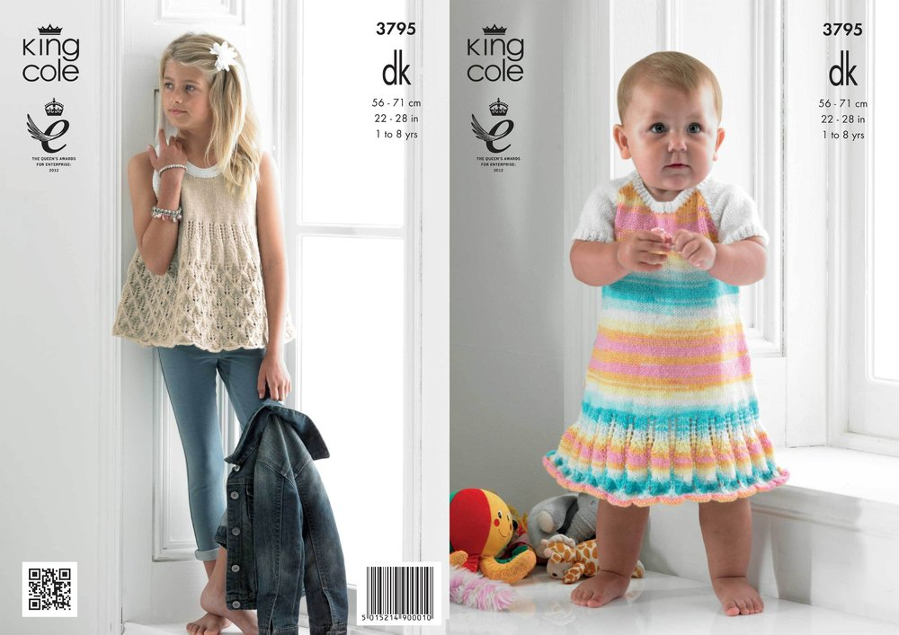 King Cole 3795 Knitting Pattern Smock Top and Dress in King Cole DK ...