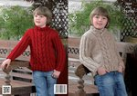 King Cole 3824 Crochet Pattern Sweaters in King Cole Super Chunky