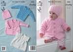 King Cole 3858 Knitting Pattern Coat, Sleeveless Coat, Sweater and Hat in King Cole Chunky