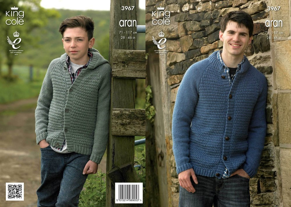 King Cole 3967 Knitting Pattern Boys and Mens Jacket and Hoodie in ...
