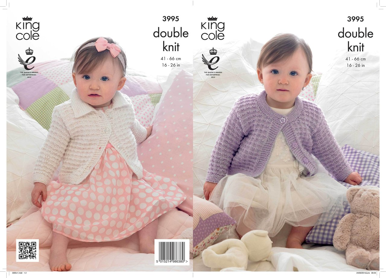 King Cole 3995 Knitting Pattern Children\'s Cardigans in King Cole ...
