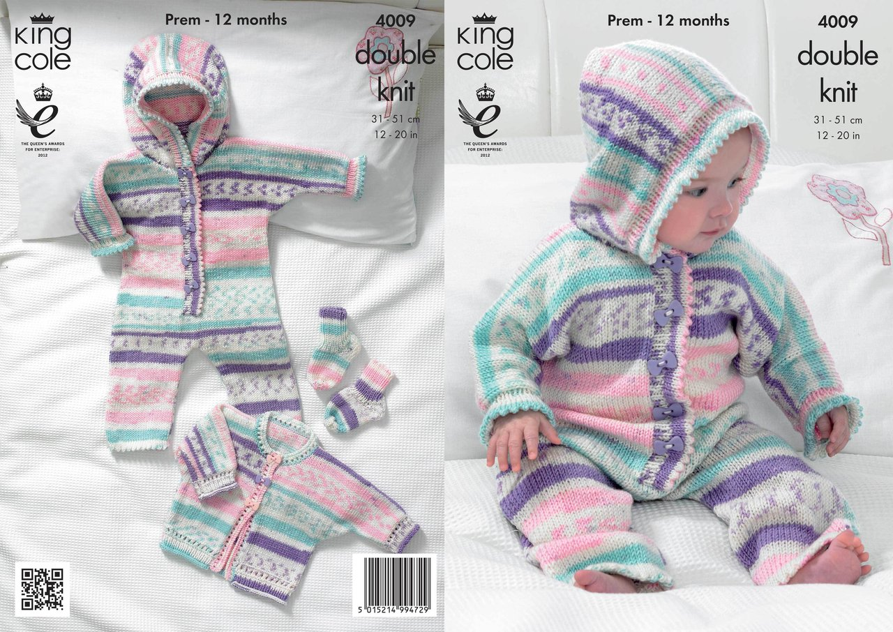 King Cole 4009 Knitting Pattern All In One, Jacket and Socks in King ...