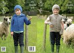 King Cole 4024 Knitting Pattern Hoodie, Gillet, Hat and Wrist Warmers in King Cole Masham DK