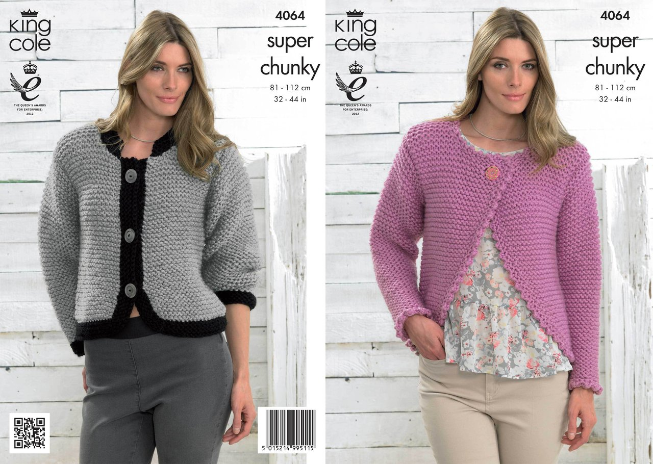 King Cole 4064 Knitting Pattern Bolero and Jacket in King Cole Big ...