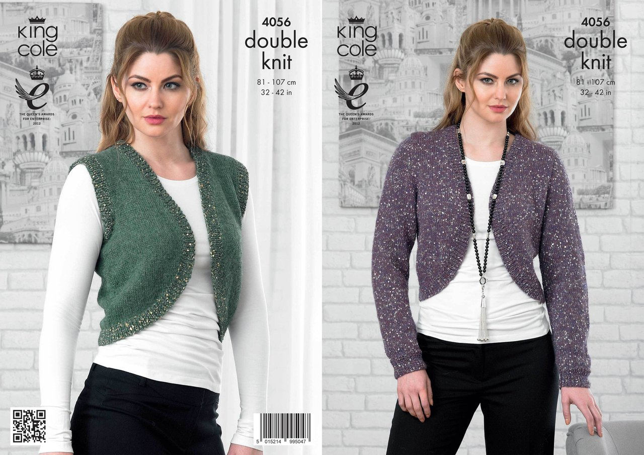 King Cole 4056 Knitting Pattern Bolero and Cardigan in King Cole ...