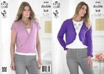 King Cole 4163 Knitting Pattern Sweater and Bolero in King Cole Smooth DK