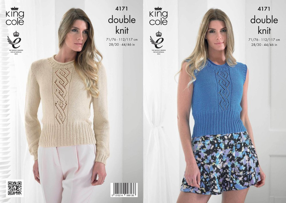 King Cole 4171 Knitting Pattern Summer Top and Sweater in King Cole ...