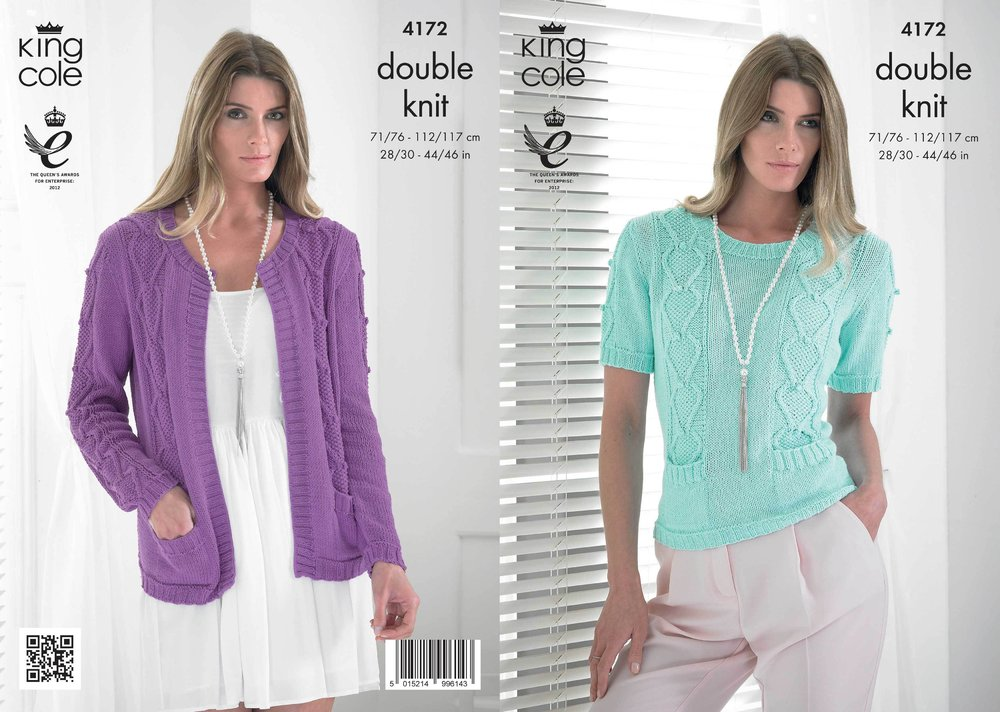 King Cole 4172 Knitting Pattern Jacket and Sweater in King Cole ...