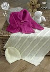 King Cole 4222 Knitting Pattern Jacket, Blanket and Hat in King Cole Comfort Aran