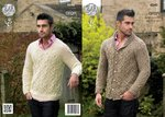 King Cole 4240 Knitting Pattern Jacket and Sweater in King Cole Fashion Aran