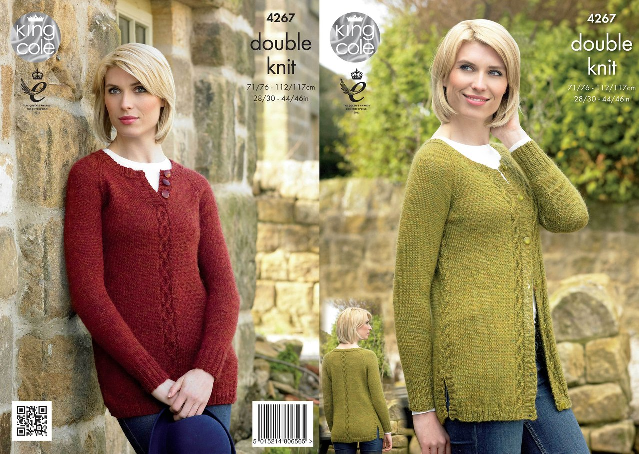 King Cole 4267 Knitting Pattern Tunic and Cardigan in Panache DK ...