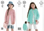 King Cole 4322 Knitting Pattern Girls' Coats in King Cole Bamboo Cotton DK
