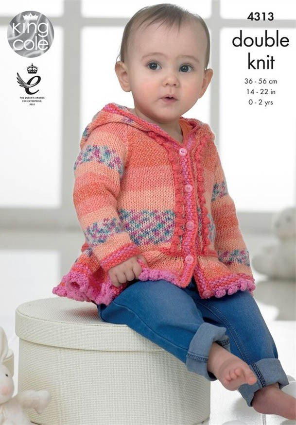 King Cole 4313 Knitting Pattern Baby Set in King Cole Drifter DK ...