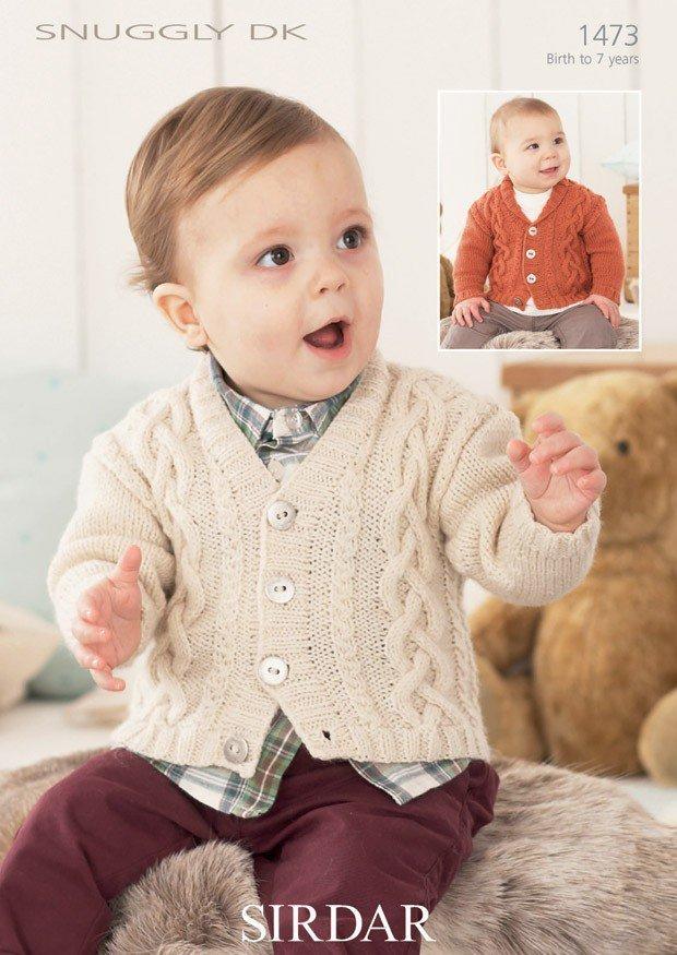 Unique Sirdar 1473 Knitting Pattern Boys V Neck And Shawl Collar  WO78