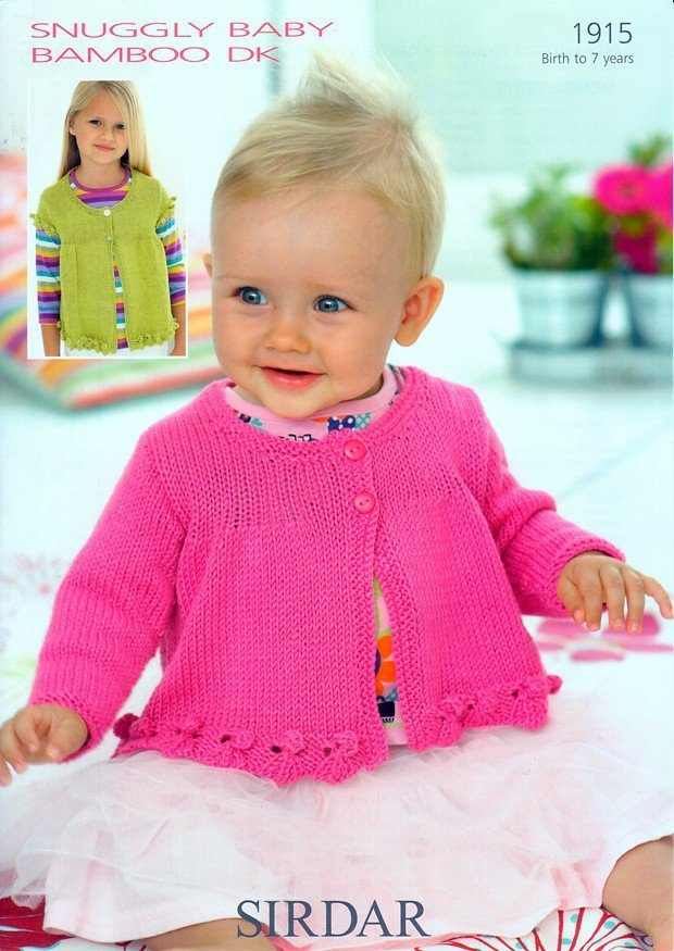 Sirdar 1915 Knitting Pattern Baby And Girls Round Neck Cardigans In